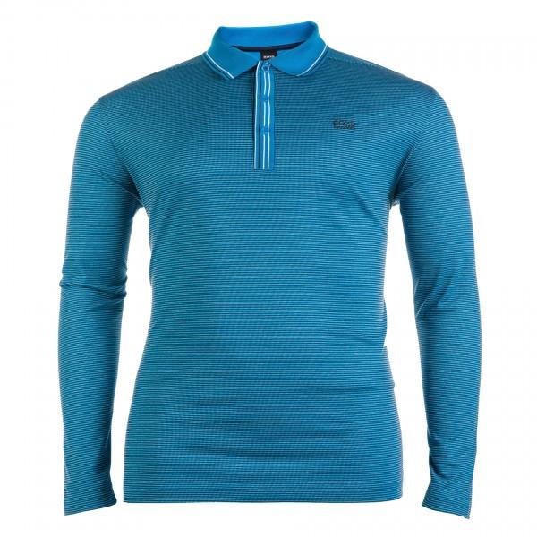 Polo-Shirt mit Knopfleiste langarm Piquet Basi