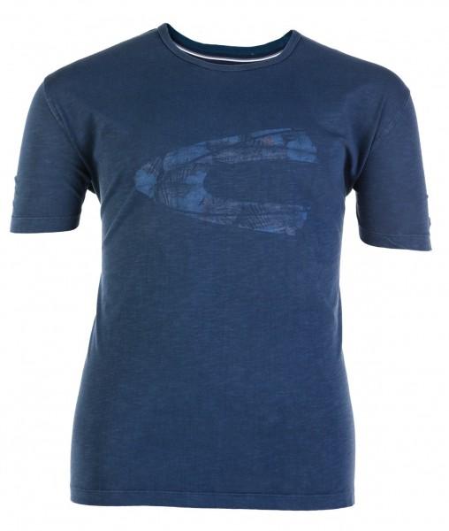 Rundhals-T-Shirt kurzarm Jersey Druck