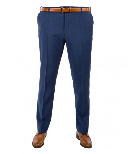Anzug Hose Flat-Front in blau