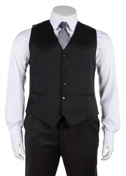 Anzug Weste einreihig in schwarz