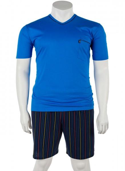 V-Ausschnitt Pyjama Jersey kurz