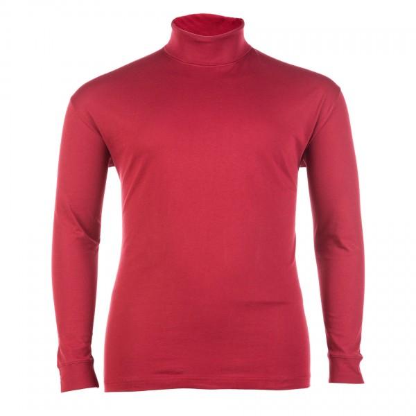 Shirt Rollkragen langarm Jersey Basic