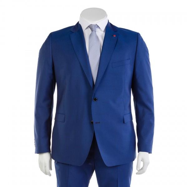 Anzug Sakko einreihig in blau gestreift