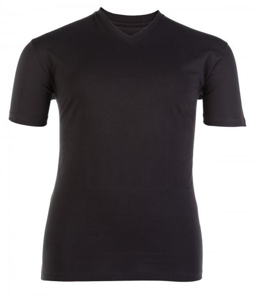 V-Ausschnitt T-Shirt kurzarm Jersey Basic Doppelpack