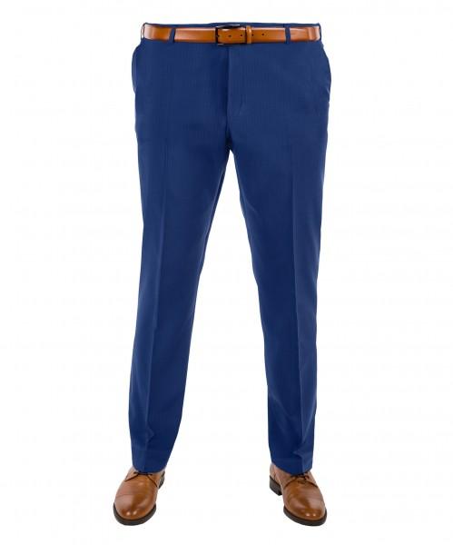 Anzug Hose Flat-Front in blau gestreift