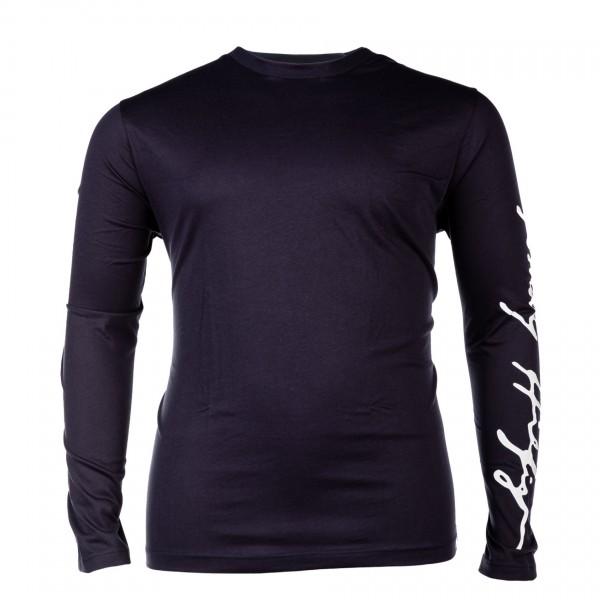 Rundhals-T-Shirt langarm Jersey Basic