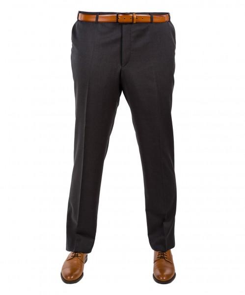 Anzug Hose Flat-Front anthrazit und schwarz