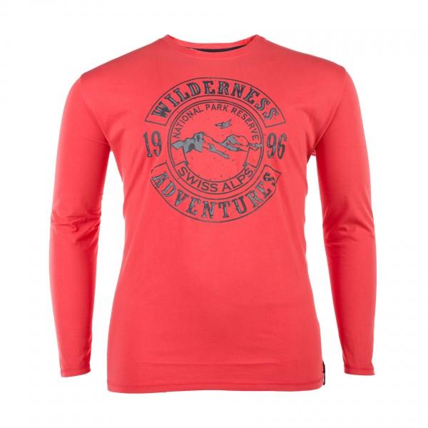 Rundhals T-Shirt langarm Jersey Basic