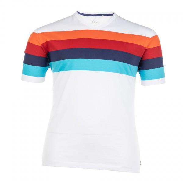 T-Shirt mit V-Ausschnitt kurzarm Jersey Basic