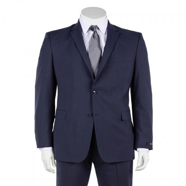 Anzug Sakko Zwei-Knopf einreihig in blau und grau