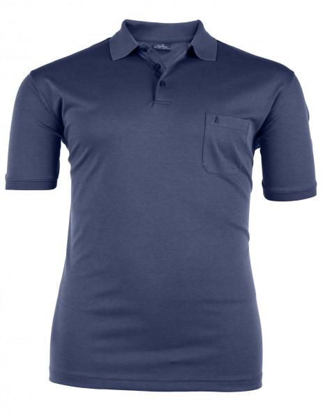 Polo-Shirt mit Knopfleiste kurzarm Basic Interlock