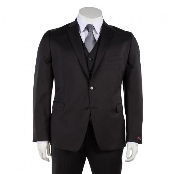 Anzug Sakko einreihig in anthrazit und schwarz