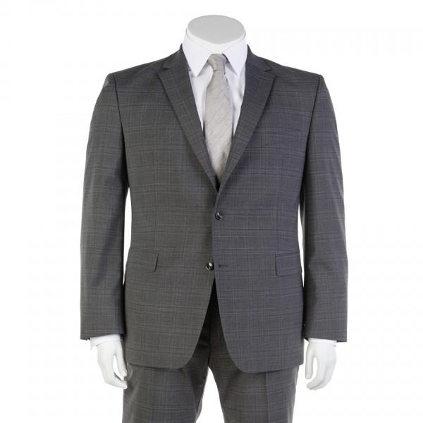 Anzug Sakko Zwei-Knopf einreihig grau kariert