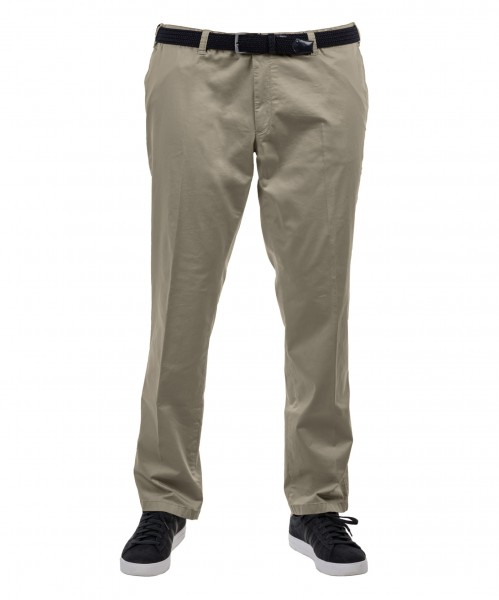 Chinos Baumwolle Flat-Front