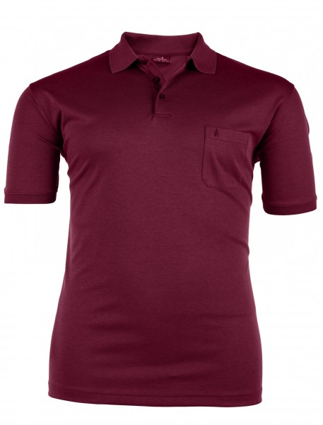 Polo-Shirt mit Knopfleiste kurzarm Basic Interlock