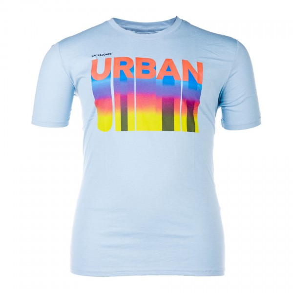 Rundhals-T-Shirt kurzarm Jersey bedruckt