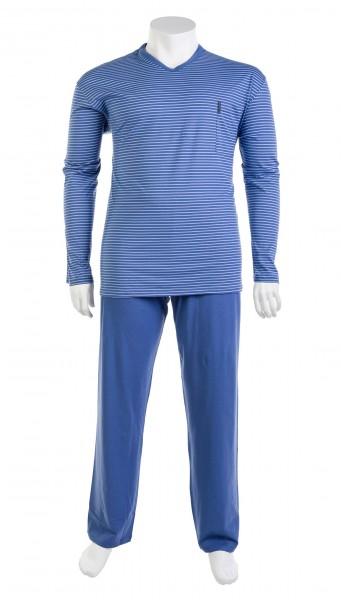 V-Ausschnitt Pyjama Jersey lang