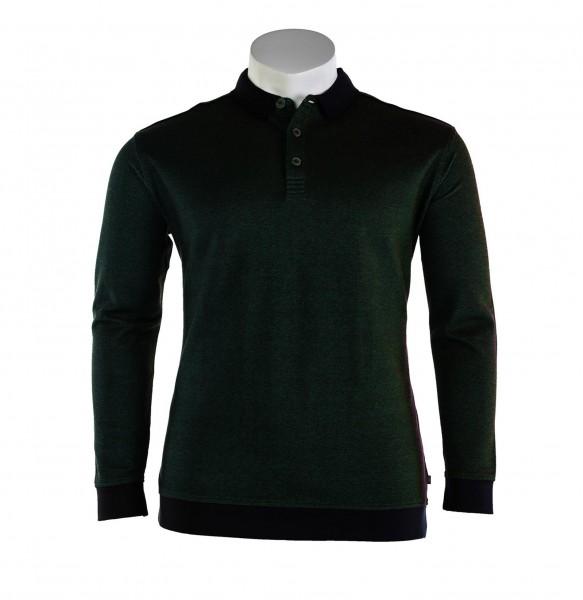 Sweater mit Polokragen und Bund